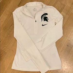 Michigan State Nike dry fit women's xs 1/2 zip